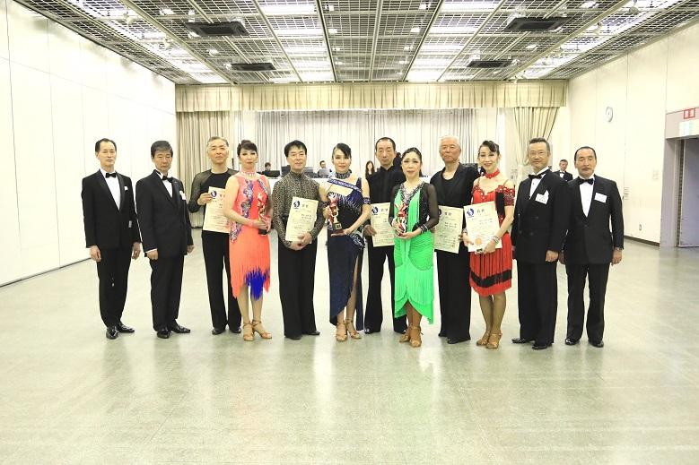 アマ・シニアB級ラテン表彰式